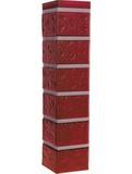 Угол наружный цокольный fineber кирпич красный обожженый