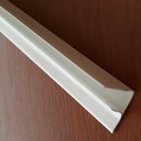 Универсальный внутренний угол ПВХ 3 метра Белый Глянцевый для панелей толщиной 7-8мм