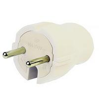 Электрическая вилка 10А, 250В Smartbuy Белая Прямая без заземления (SBE-10-P04-w)