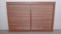Решетка радиаторная ПВХ 900х600мм Вишня