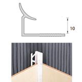 Раскладка пластиковая (ПВХ) для плитки 9-10мм внутренняя Белая 2,5 метра
