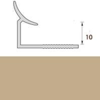 Раскладка пластиковая (ПВХ) для плитки 9-10мм внутренняя Бежевая 2,5 метра