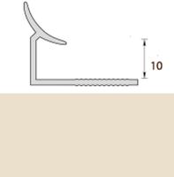 Раскладка пластиковая (ПВХ) для плитки 9-10мм внутренняя Слоновая кость 2,5 метра