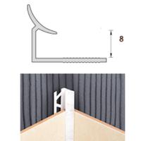 Раскладка пластиковая (ПВХ) для плитки 7-8мм внутренняя Белая 2,5 метра