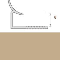 Раскладка пластиковая (ПВХ) для плитки 7-8мм внутренняя Бежевая 2,5 метра