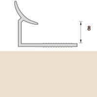 Раскладка пластиковая (ПВХ) для плитки 7-8мм внутренняя Слоновая кость 2,5 метра
