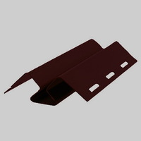 Внутренний угол FineBer Коричневый для фасадных панелей (длина-3м)