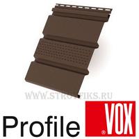Софит Vox (Вокс) Айдахо Коричневый с центральной перфорацией (Размер:3х0,3м)
