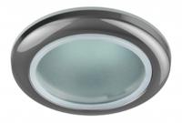 Светильник Эра WR1 CH Хром IP44 влагозащищенный точечный встраиваемый MR16, GU5.3, 12V/220V, 50W, D=92мм