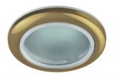 Светильник Эра WR1 GD Золото IP44 влагозащищенный точечный встраиваемый MR16, GU5.3, 12V/220V, 50W, D=92мм