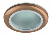 Светильник Эра WR1 SC Медь IP44 влагозащищенный точечный встраиваемый MR16, GU5.3, 12V/220V, 50W, D=92мм