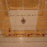 Зеркальный потолок с фацетом бронза 300х300мм