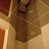 Зеркальный тонированный потолок титан (графит) 600х600мм