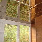 Зеркальный тонированный потолок с фацетом титан (графит) 300х300мм