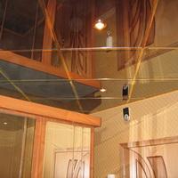 Зеркальный тонированный потолок титан (графит) 300х300мм