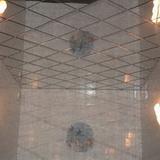 Зеркальный потолок серебро 300х300мм