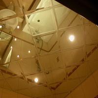 Потолок из зеркал с Фацетом Серебро 300х300мм