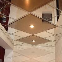 Зеркальный потолок с фацетом бронза 600х600мм